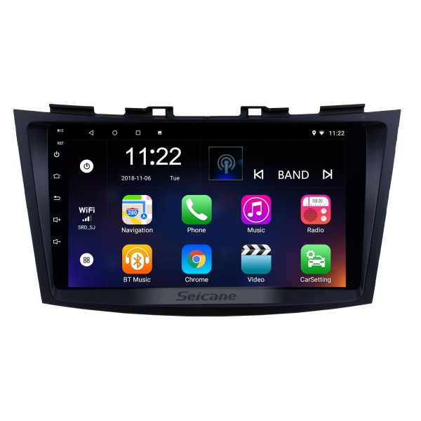9 inch Android 10.0 2011-2013 SUZUKI SWIFT Auto Radio GPS Navigation Audio system Bluetooth Music USB WIFI support 1080P Video OBD2 DVR