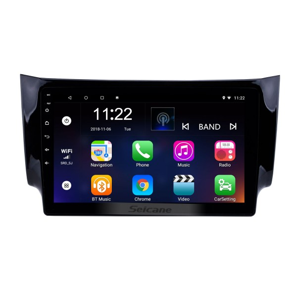 10.1 Inch Android 10.0 Touch Screen radio Bluetooth GPS Navigation system For 2012-2016 NISSAN SYLPHY Steering Wheel Control AUX WIFI support TPMS DVR OBD II USB Rear camera