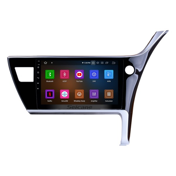 10.1 inch HD Touchscreen Radio GPS Navigation System for 2017 Toyota Corolla Right Hand Android 10.0 driving Car Head unit Support Steering Wheel Control Bluetooth Video Carplay 3G/4G Wifi DVR