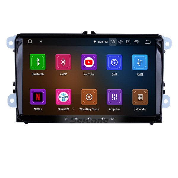 9 inch Android 10.0 In Dash Bluetooth GPS System for 2003-2013 VW Volkswagen Golf 5 Caddy Touran with 3G WiFi Radio RDS Mirror Link OBD2 Rearview Camera AUX