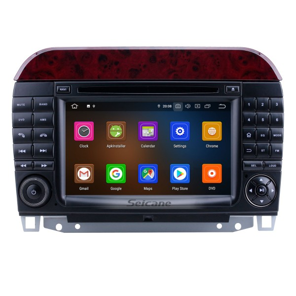 HD Touchscreen 7 inch Android 10.0 Radio for 1998-2005 Mercedes Benz S Class W220/S280/S320/S320 CDI/S400 CDI/S350/S430/S500/S600/S55 AMG/S63 AMG/S65 AMG with GPS Navigation Carplay Bluetooth support Digital TV