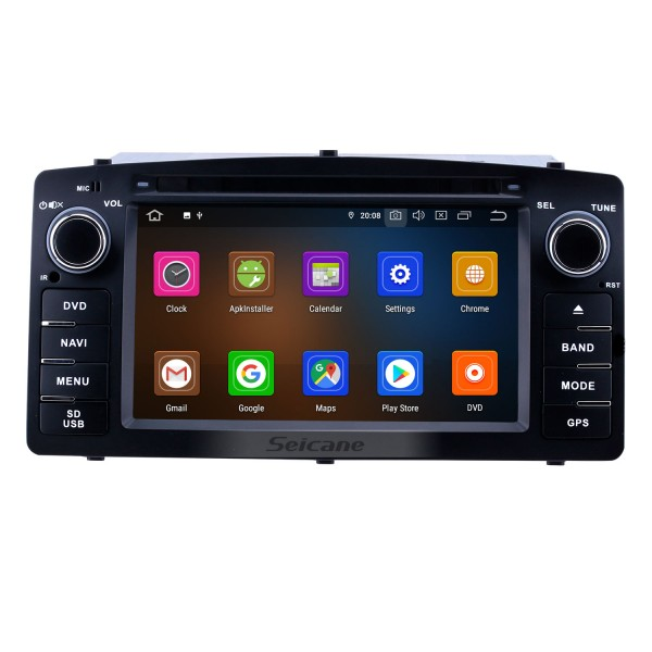 2003-2012 Toyota Corolla E120 BYD F3 6.2 inch Android 10.0 GPS Navigation Radio with HD Touchscreen Carplay Bluetooth support OBD2