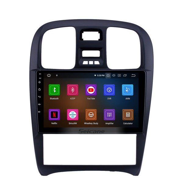 OEM 9 inch Android 10.0 Radio for 2003-2009 Hyundai Sonata Bluetooth HD Touchscreen GPS Navigation Carplay support Rearview camera