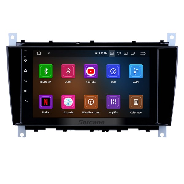 8 inch Android 10.0 GPS Navigation Radio for 2004-2011 Mercedes Benz C Class C55 / CLC Class W203 /CLK Class W209 /CLS Class W219 with HD Touchscreen Carplay Bluetooth support OBD2 SWC