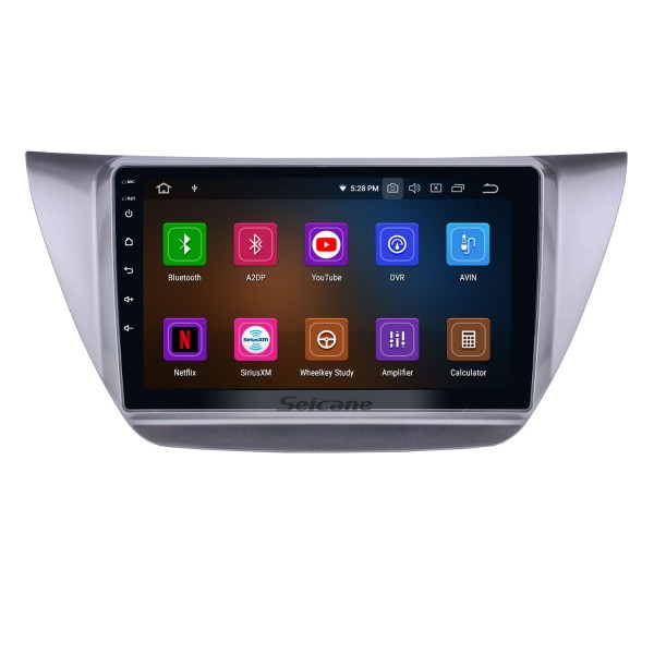 9 inch Android 10.0 2006-2010 Mitsubishi Lancer IX HD Touchscreen GPS Navigation Radio with USB Carplay Bluetooth WIFI support 4G DVD Player Mirror Link