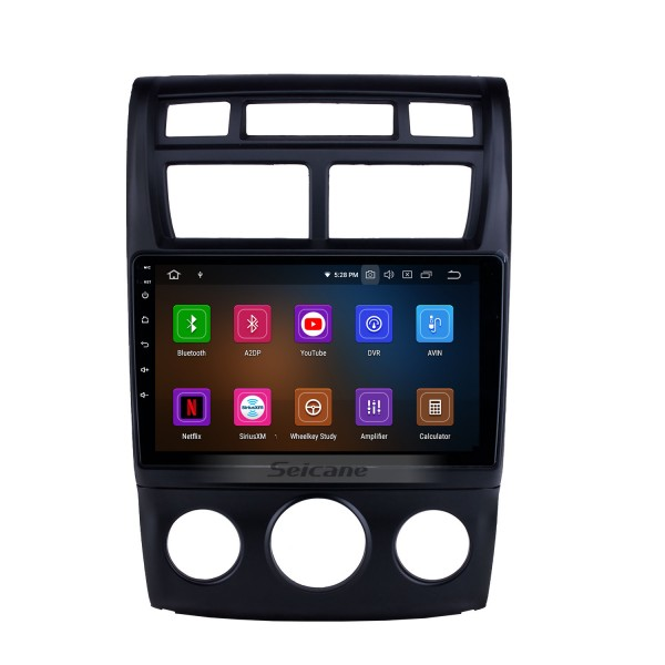Android 10.0 9 inch 2007-2017 Kia Sportage Auto A/C HD Touchscreen GPS Navigation Radio with Bluetooth USB Carplay WIFI support OBD2 DVR DAB+