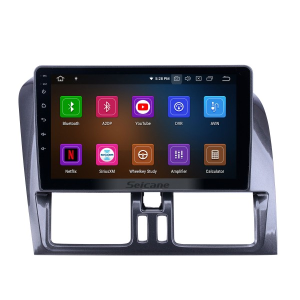 For 2008 2009 2010-2016 Volvo XC60 Radio 9 inch Android 10.0 HD Touchscreen Bluetooth with GPS Navigation Carplay support SWC