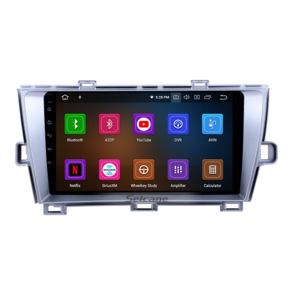 2009-2013 Toyota Prius RHD Android 10.0 9 inch GPS Navigation Radio Bluetooth HD Touchscreen USB Carplay support DVR DAB+ OBD2 SWC