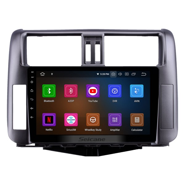 OEM 9 inch Android 10.0 HD Touchscreen Bluetooth Radio for 2010-2013 Toyota Prado 150 with GPS Navigation USB FM auto stereo Wifi AUX support DVR TPMS Backup Camera OBD2 SWC