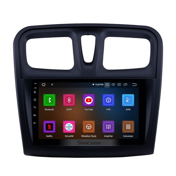 Android 10.0 9 inch GPS Navigation Radio for 2012-2017 Renault Sandero with HD Touchscreen Carplay AUX Bluetooth support Digital TV