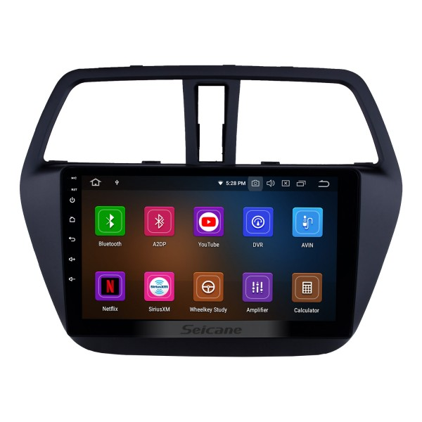 HD Touchscreen 2013-2016 Suzuki SX4 S-Cross Android 10.0 9 inch GPS Navigation Radio Bluetooth USB Carplay WIFI AUX support DAB+ Steering Wheel Control