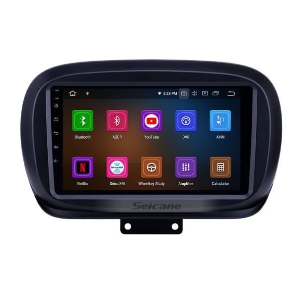 HD Touchscreen 2014-2019 Fiat 500X Android 10.0 9 inch GPS Navigation Radio Bluetooth AUX Carplay support Rear camera DAB+ OBD2