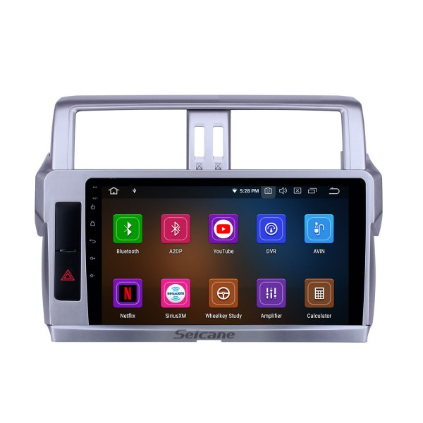 Android 10.0 10.1 inch GPS Navigation Radio for 2014 Toyota Land Cruiser Prado with HD Touchscreen Carplay Bluetooth support Digital TV