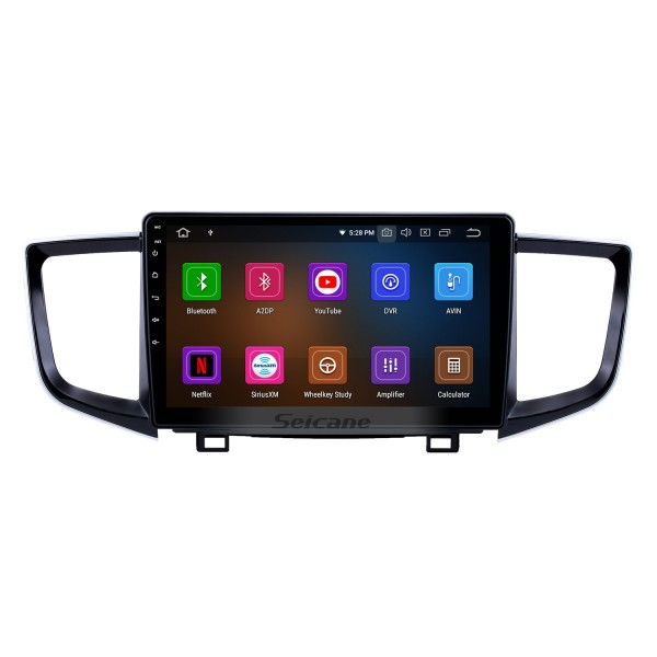 10.1 inch Android 10.0 Radio for 2016-2018 Honda Pilot Bluetooth Touchscreen GPS Navigation Carplay USB AUX support TPMS DAB+ SWC