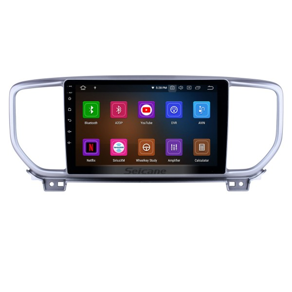 Aftermarket GPS Navigation Radio for 2018-2019 Kia Sportage R Android 10.0 9 inch Touchscreen with Carplay Bluetooth AUX support SWC Backup camera DAB+