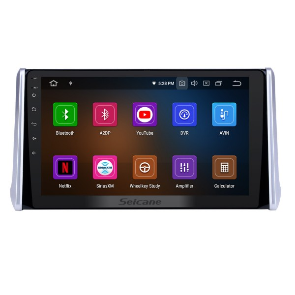 10.1 inch Android 10.0 GPS Navigation Radio for 2019 Toyota RAV4 with HD Touchscreen Carplay Bluetooth WIFI USB AUX support Mirror Link OBD2 SWC