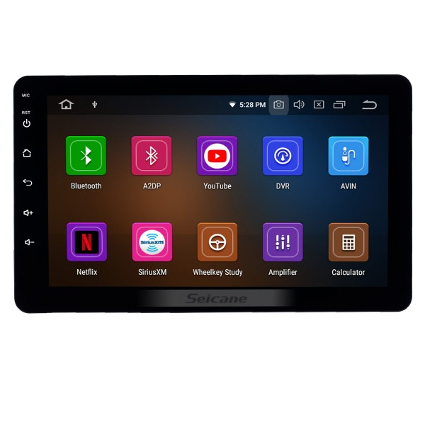 8 inch Universal Radio Android 10.0 with GPS Navigation Bluetooth HD Touchscreen AUX Carplay Music support 1080P Video Digital TV Steering Wheel Control