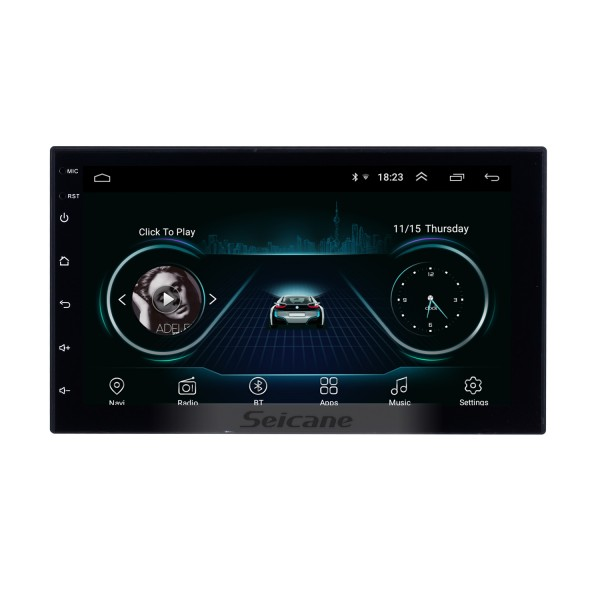 Android 8.1 Universal Radio Multimedia Player GPS Navigation 7 inch HD touch screen Bluetooth USB Carplay Steering Wheel Control
