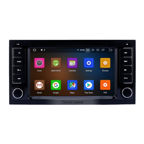 Android 10.0 CD Radio In Dash Car GPS Stereo for 2003-2014 VW Volkswagen T5 Multivan with 3G WiFi DVD Player Bluetooth Mirror Link OBD2 Steering Wheel Control AUX