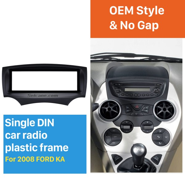 Well-designed 1Din Car Radio Fascia for 2008 Ford Ka Stereo Install In Dash Mount Kit Outter Frame 182*53mm