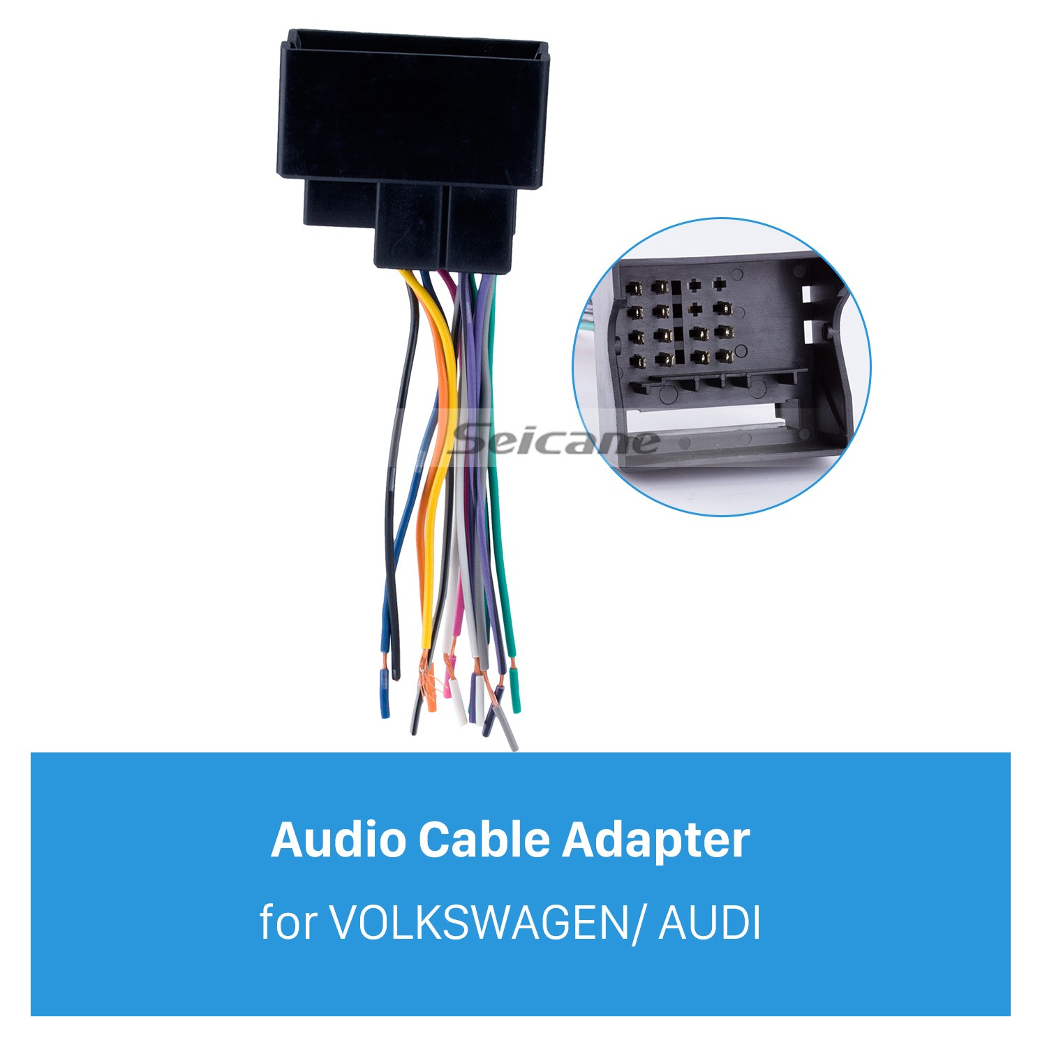 audio cable car stereo wiring harness plug adapter for volkswagen/audi/passat/sagitar/candy/magotan/bmw/ford