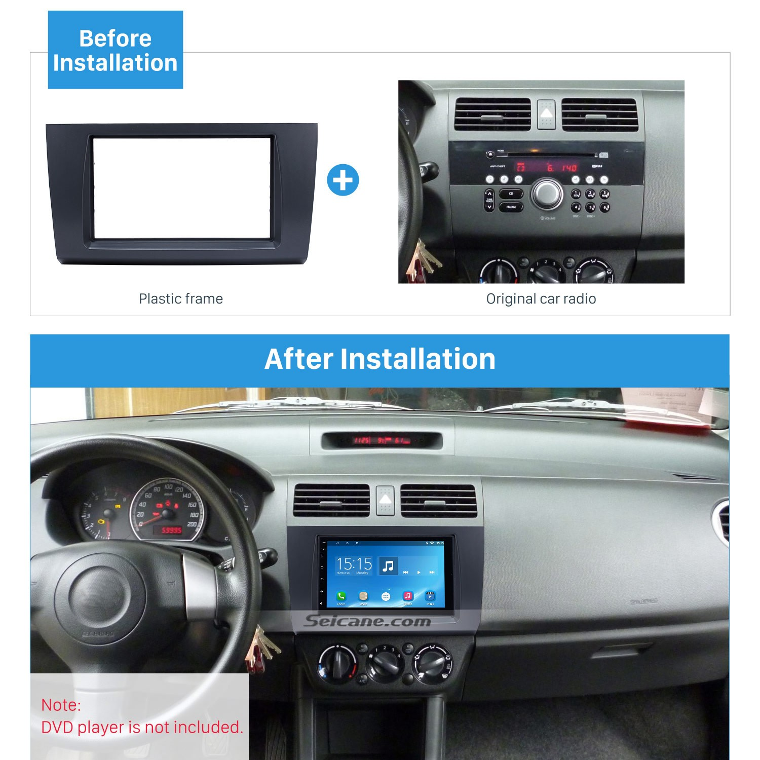Wonderful Double Din 2009 Suzuki Swift Car Radio Fascia Stereo Dash
