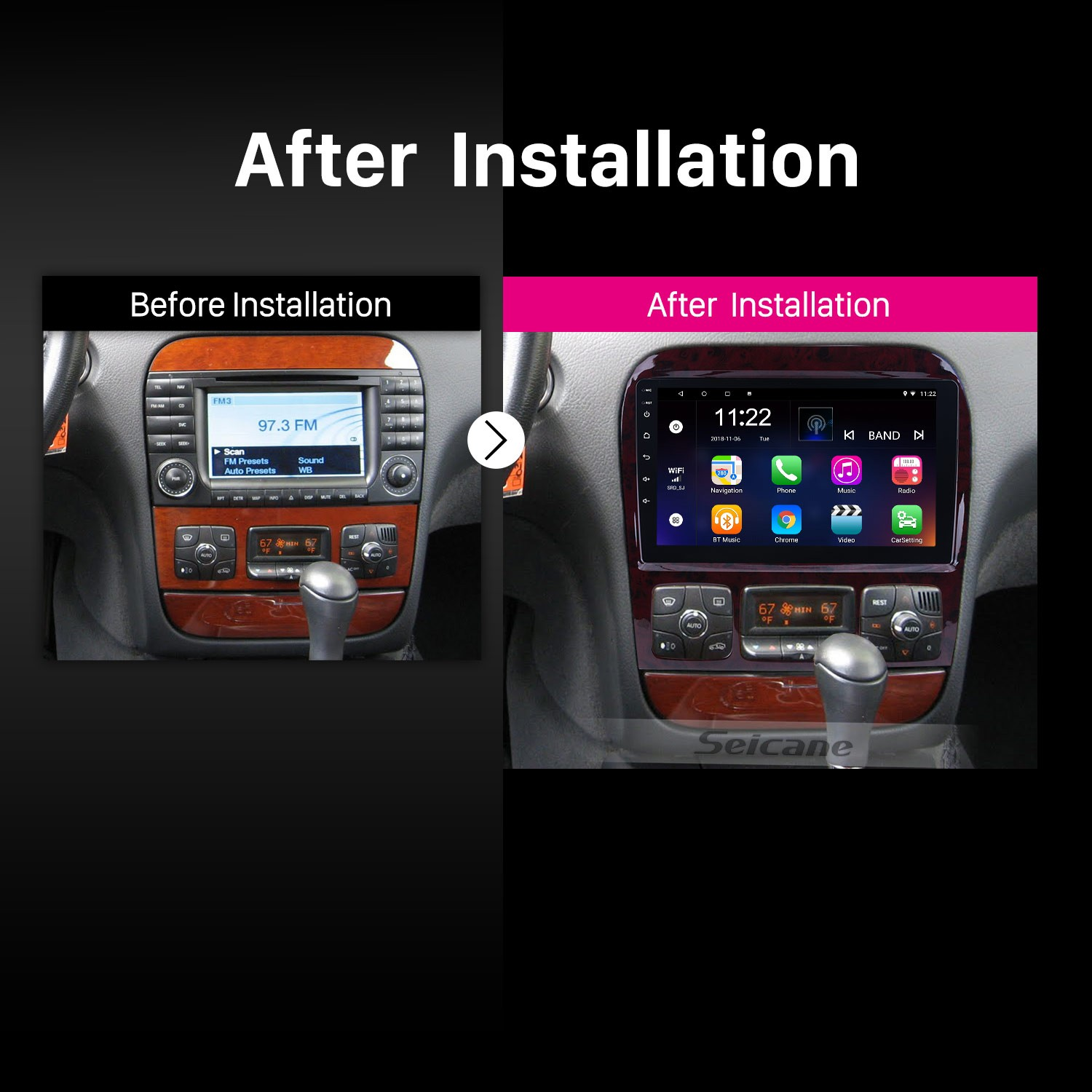9 Inch OEM Android 8 1 Radio GPS Navigation system For 1998-2005
