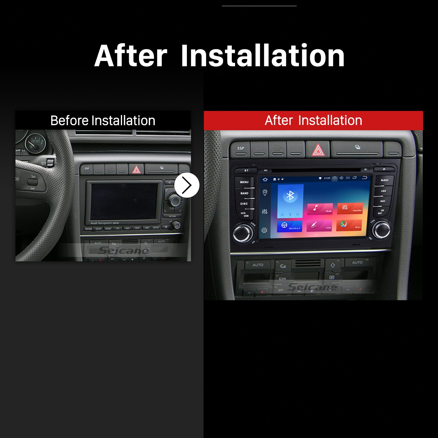 HD 1024*600 Multi-touch Screen Android 9 0 DVD Navigation Head Unit