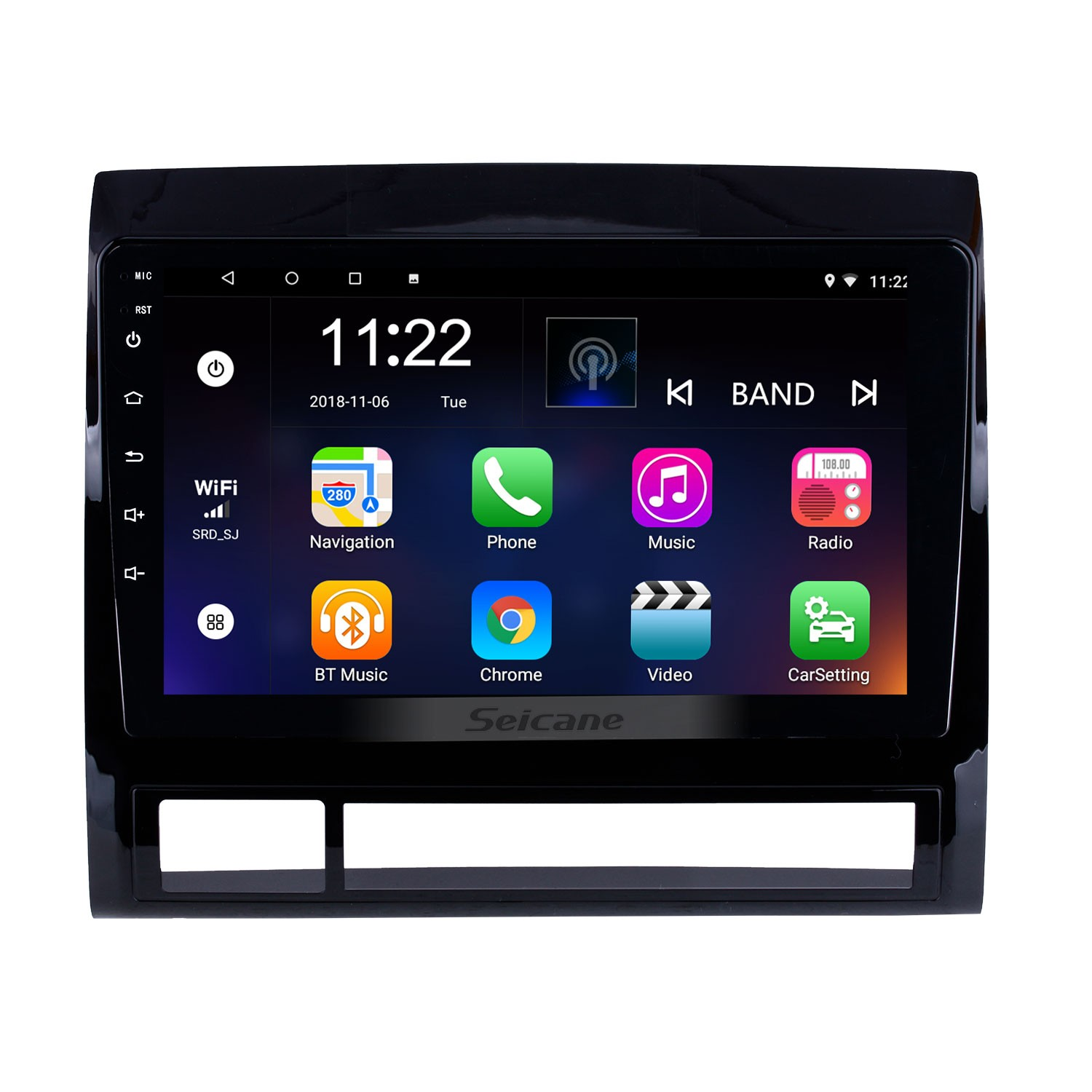 Android 8 1 GPS Navigation 9 inch Car Stereo for 2005-2013 TOYOTA