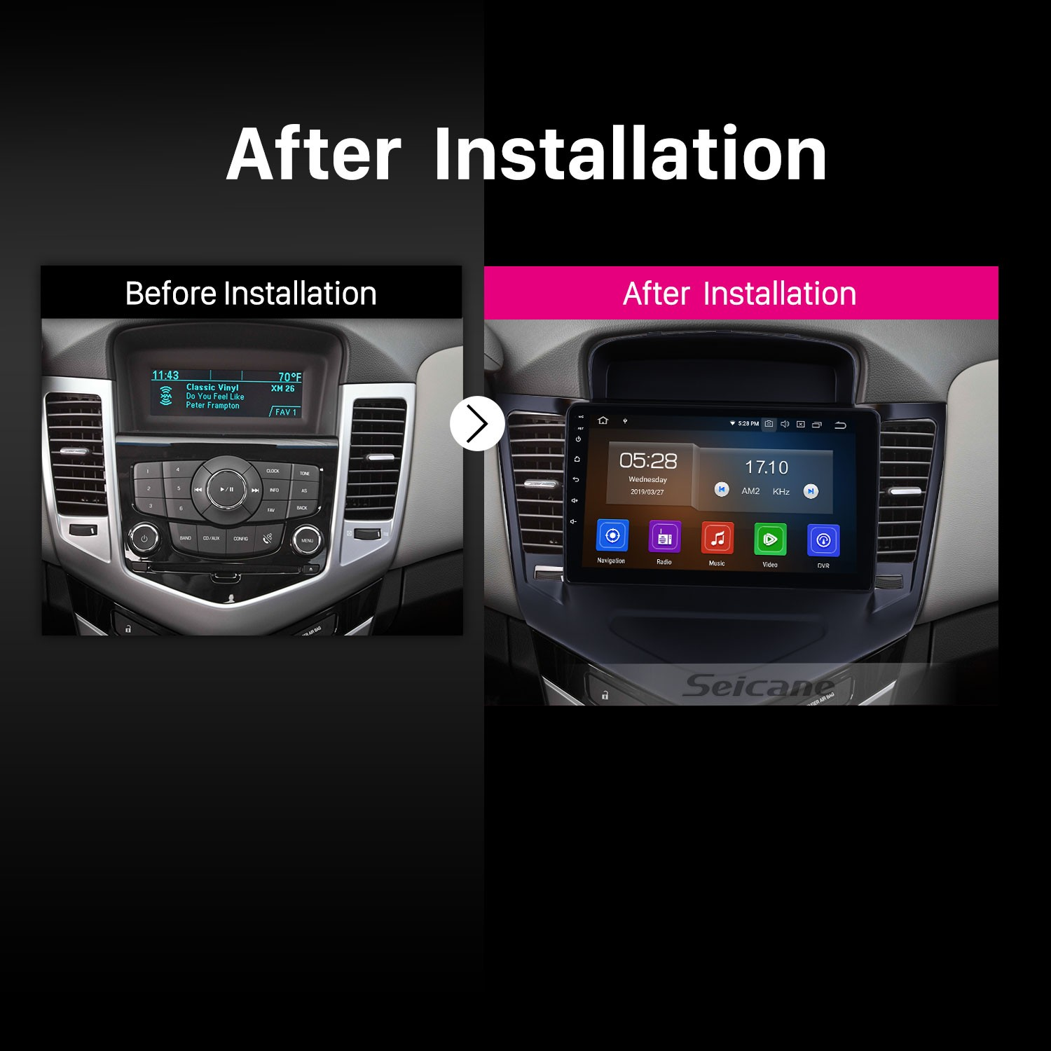 2013-2015 chevy Chevrolet CRUZE Android 9 0 9 inch GPS Navigation
