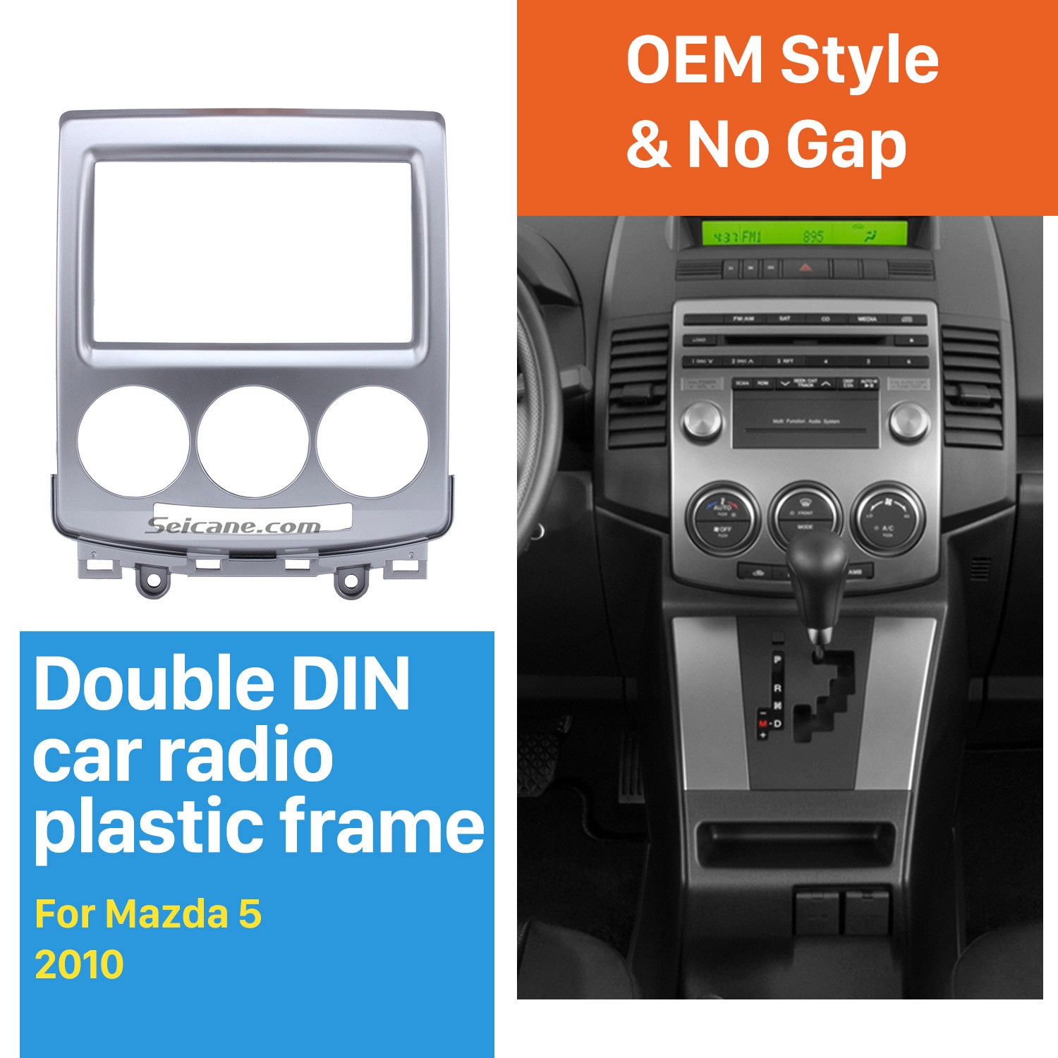 Professional 2din 2010 Mazda 5 Car Radio Fascia Auto Stereo Cd Installation Frame Panel Kit In