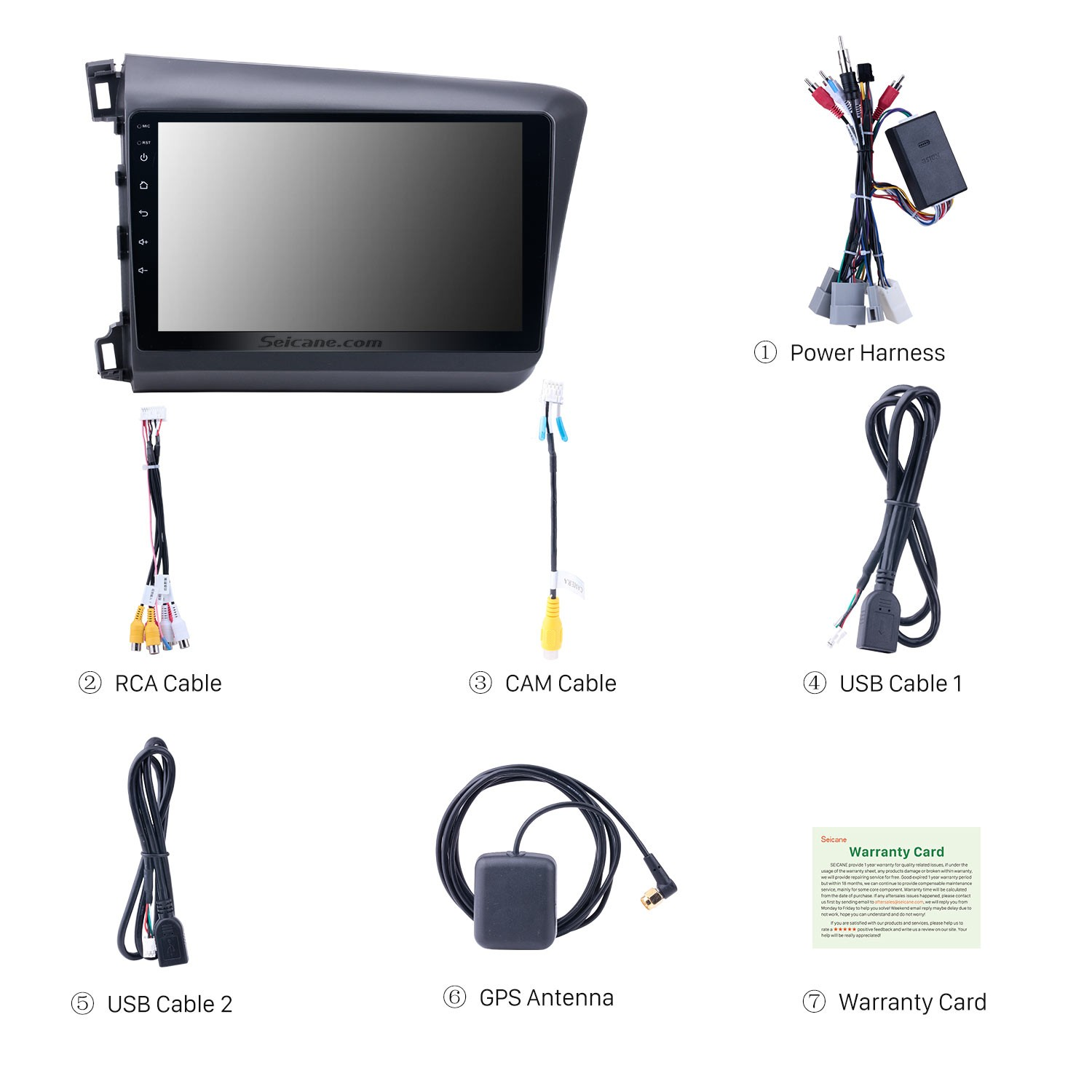 10 1 inch Android 8 1 Radio GPS Car Audio System for 2012 Honda