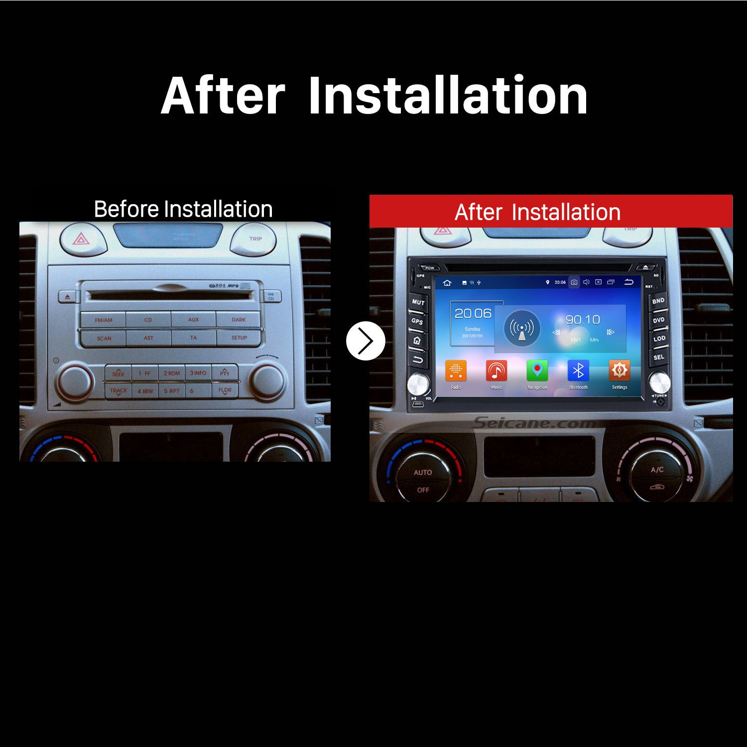 Android 8 0 Car Stereo Bluetooth Radio GPS Navigation System DVD