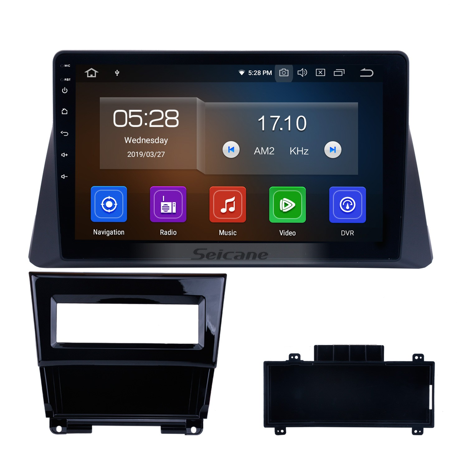 10 1 Inch HD Touch Screen Android 9 0 Car Stereo Radio For 2008-2012