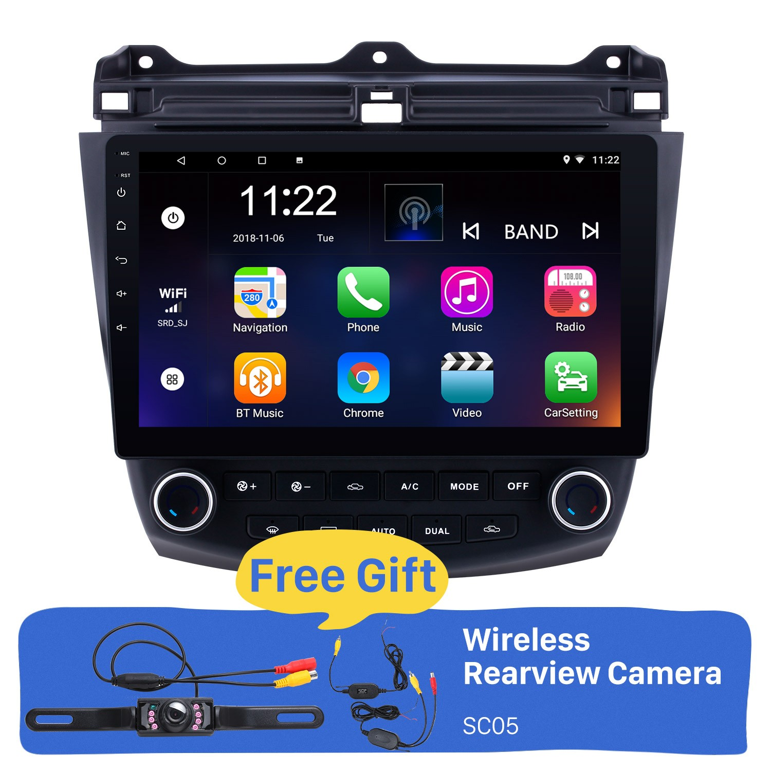 10 1 inch Android 8 1 HD 1024*600 Touch Screen Car Radio For 2003