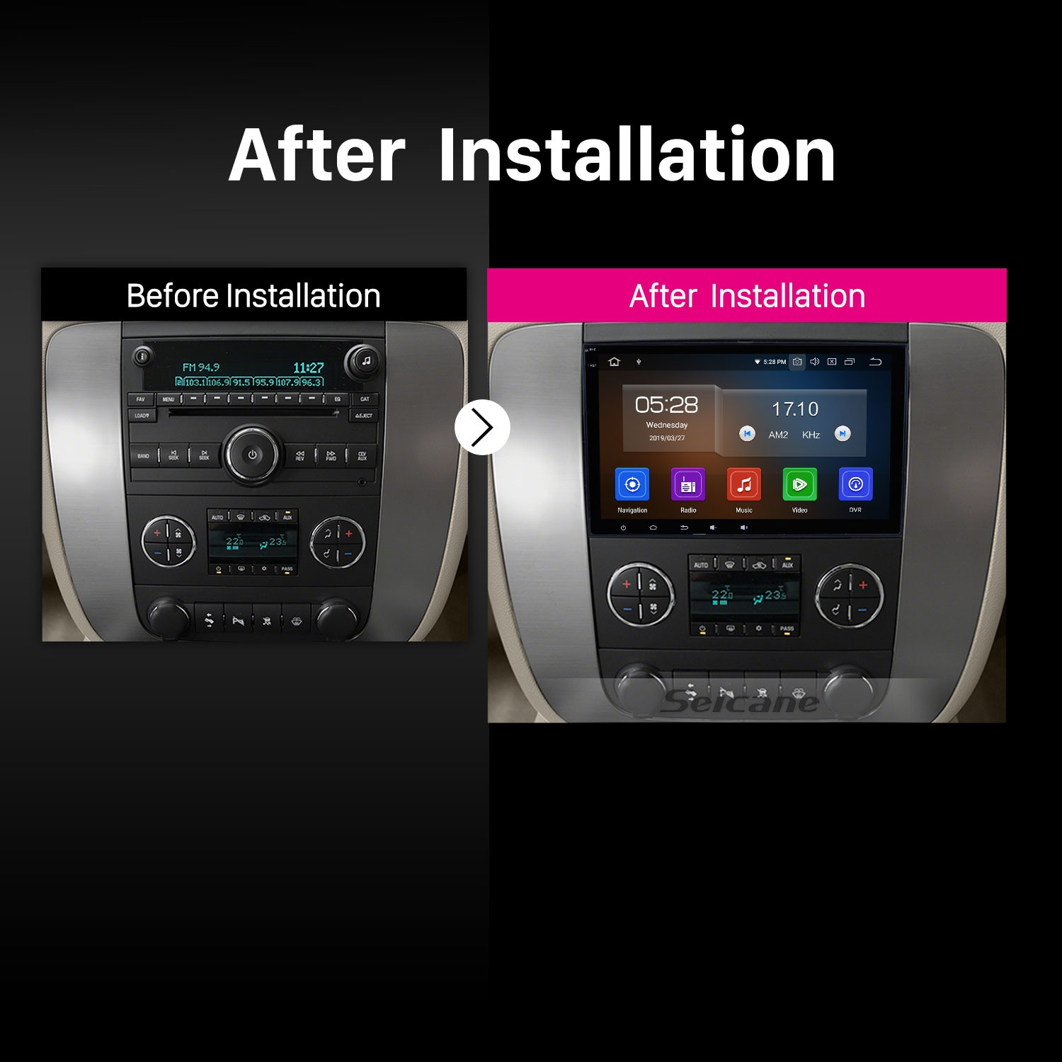 8 Inch HD Touchscreen Android 9 0 Aftermarket Radio Head Unit For