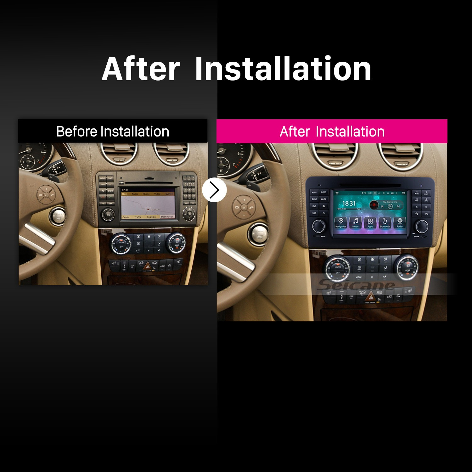 Aftermarket Android 8 0 GPS Navigation system for 2005-2012 Mercedes