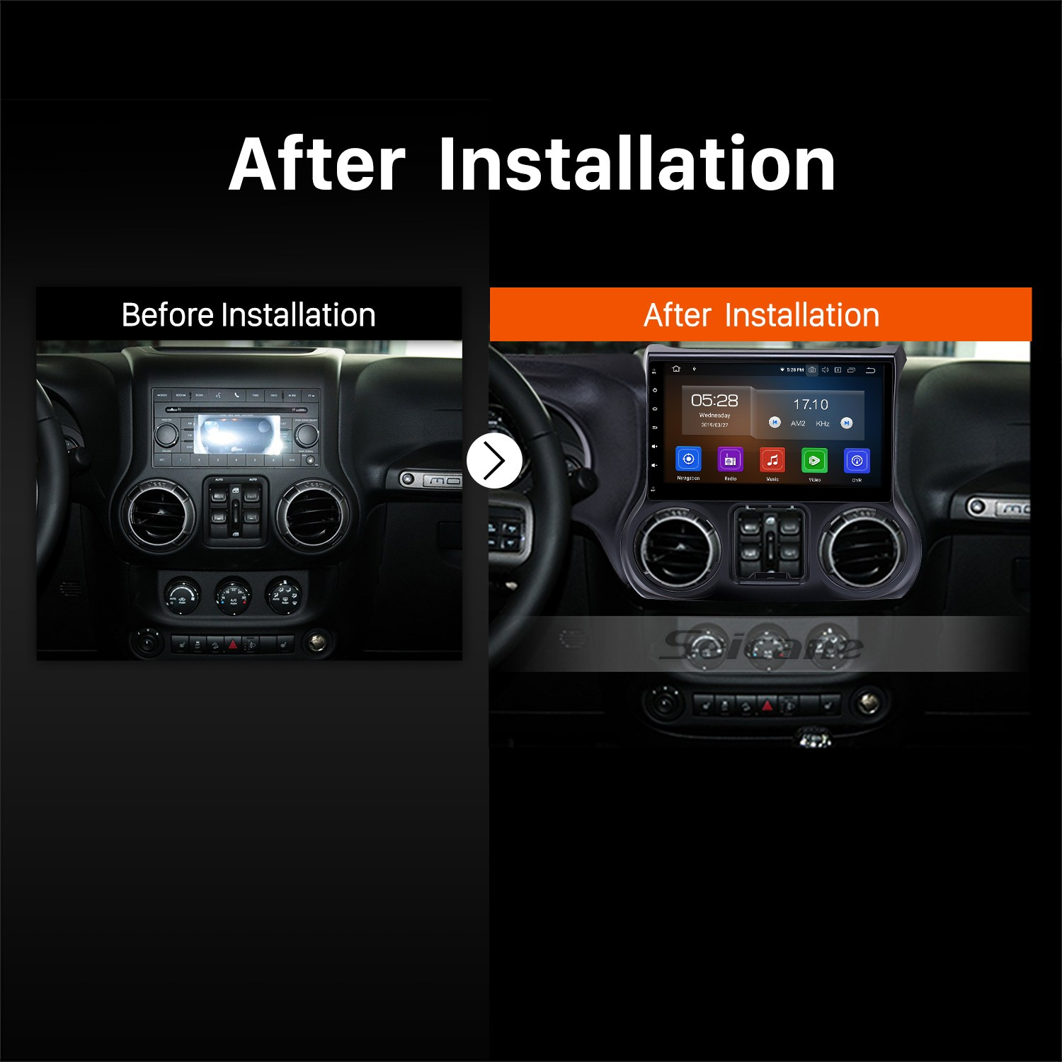 10 1 inch HD Touch Screen 2011-2014 2015 2016 2017 JEEP Wrangler