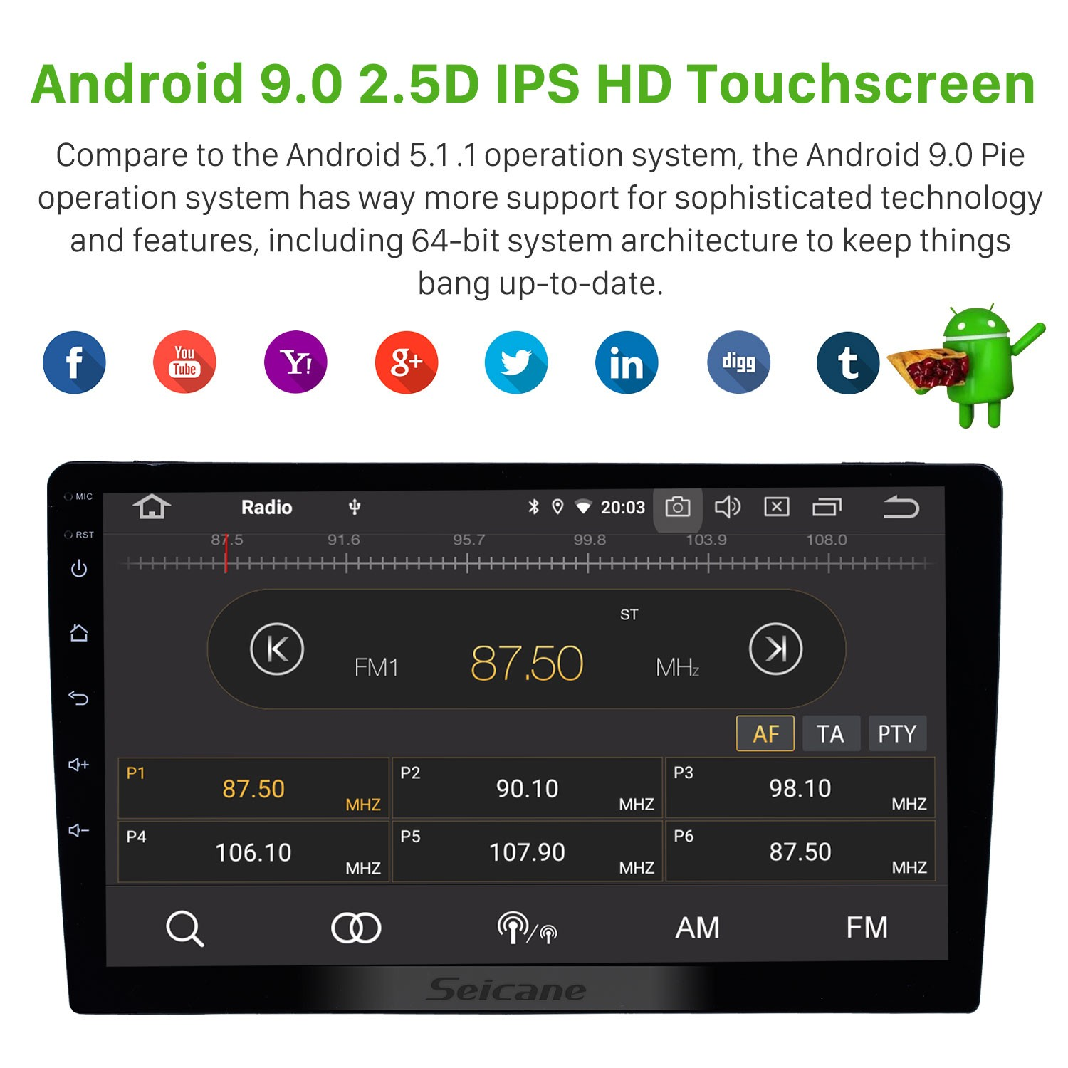 Universal 9 inch HD Touch Screen Android 9 0 Radio GPS Navigation