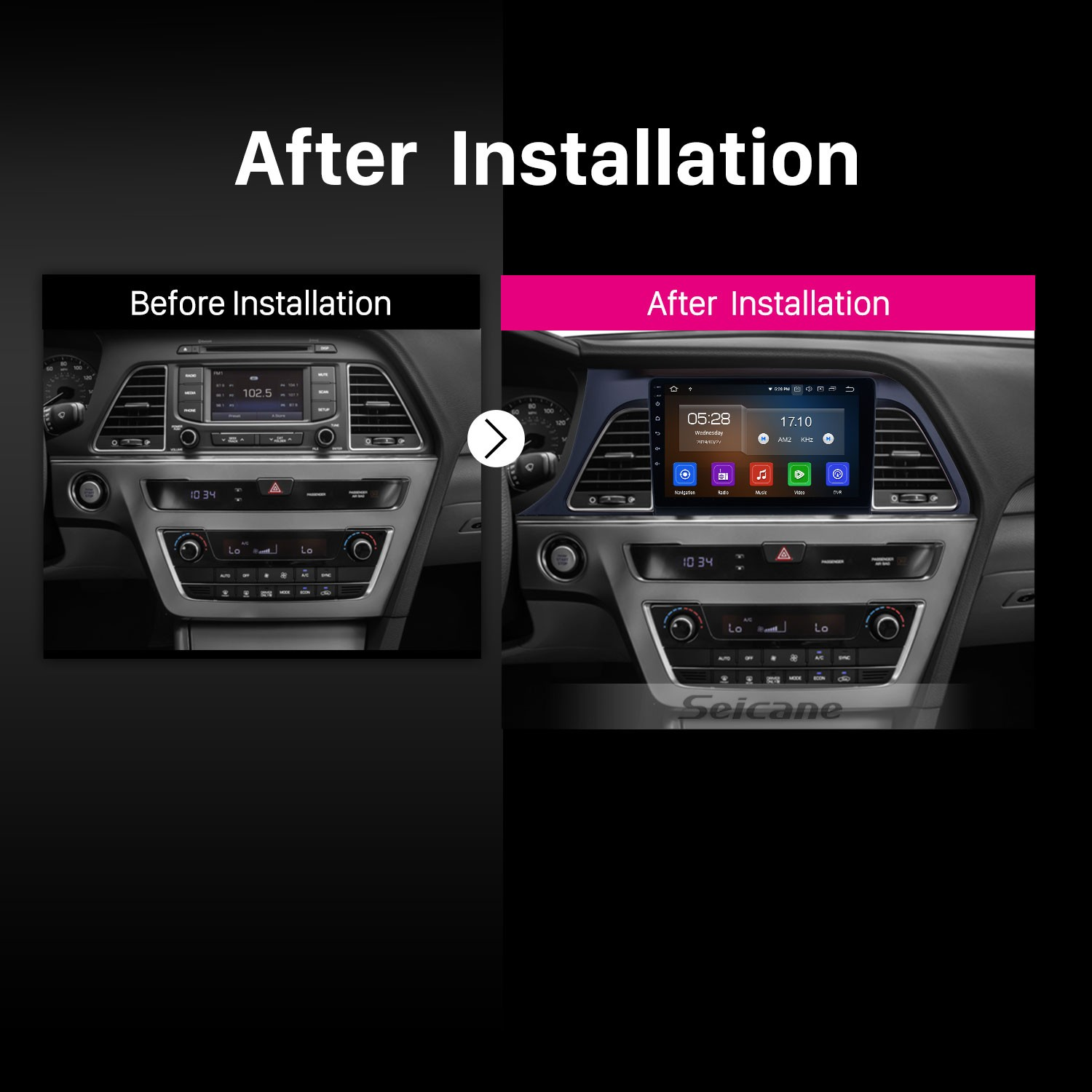 All in one 9 Inch Aftermarket GPS Navigation Head unit For 2015 2016