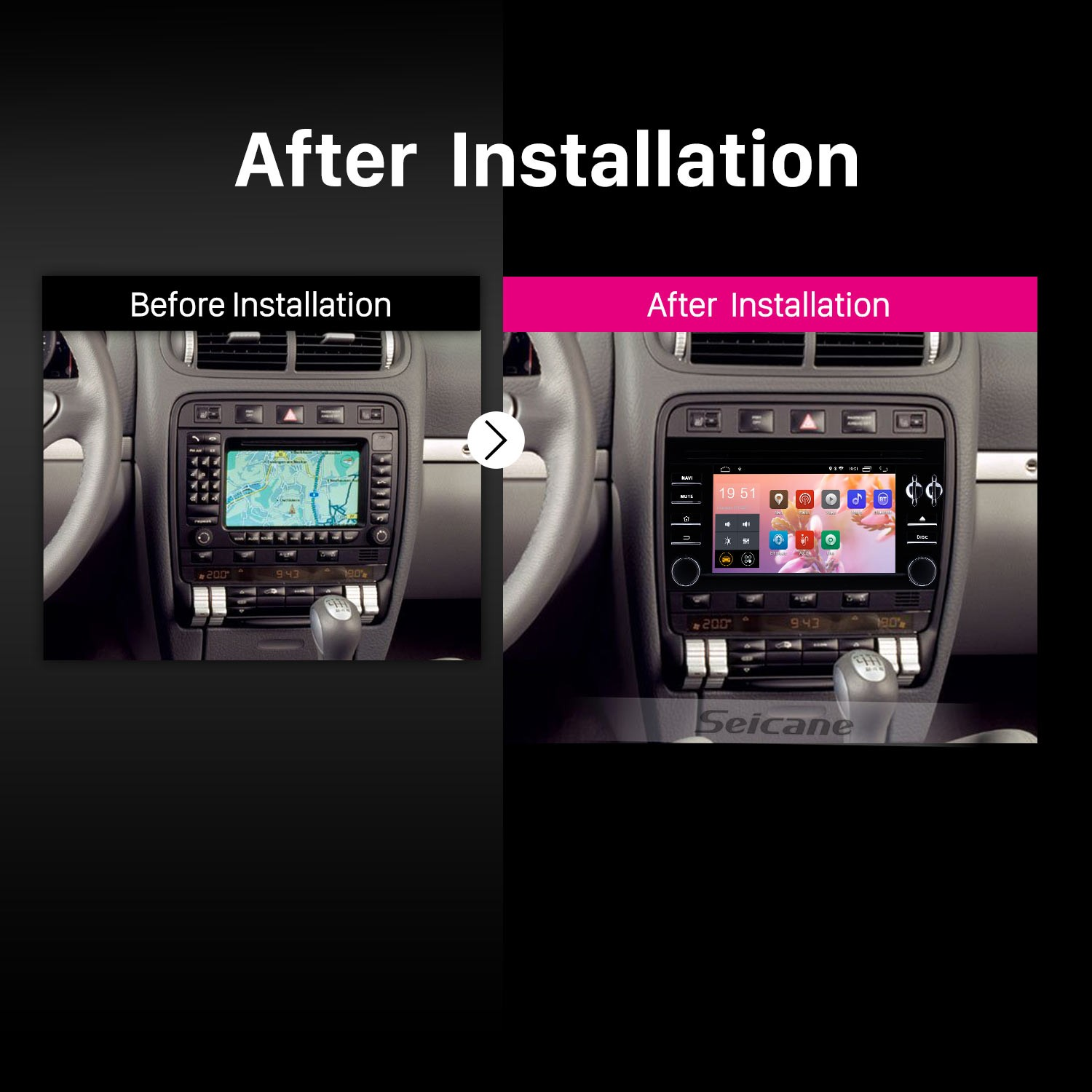 Android 8 1 GPS Navigation System Stereo for 2003 2004 2005 2006