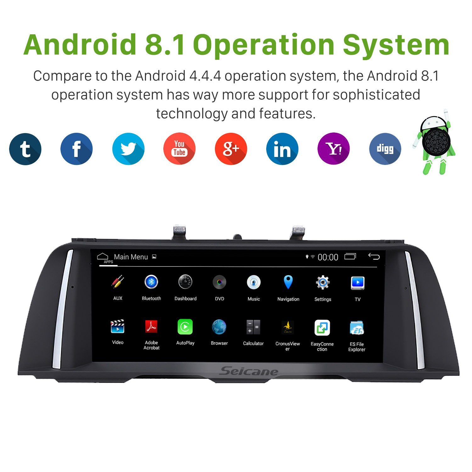 10 25 Inch Hd Touchscreen Android 8 1 2013 2014 2015 2016
