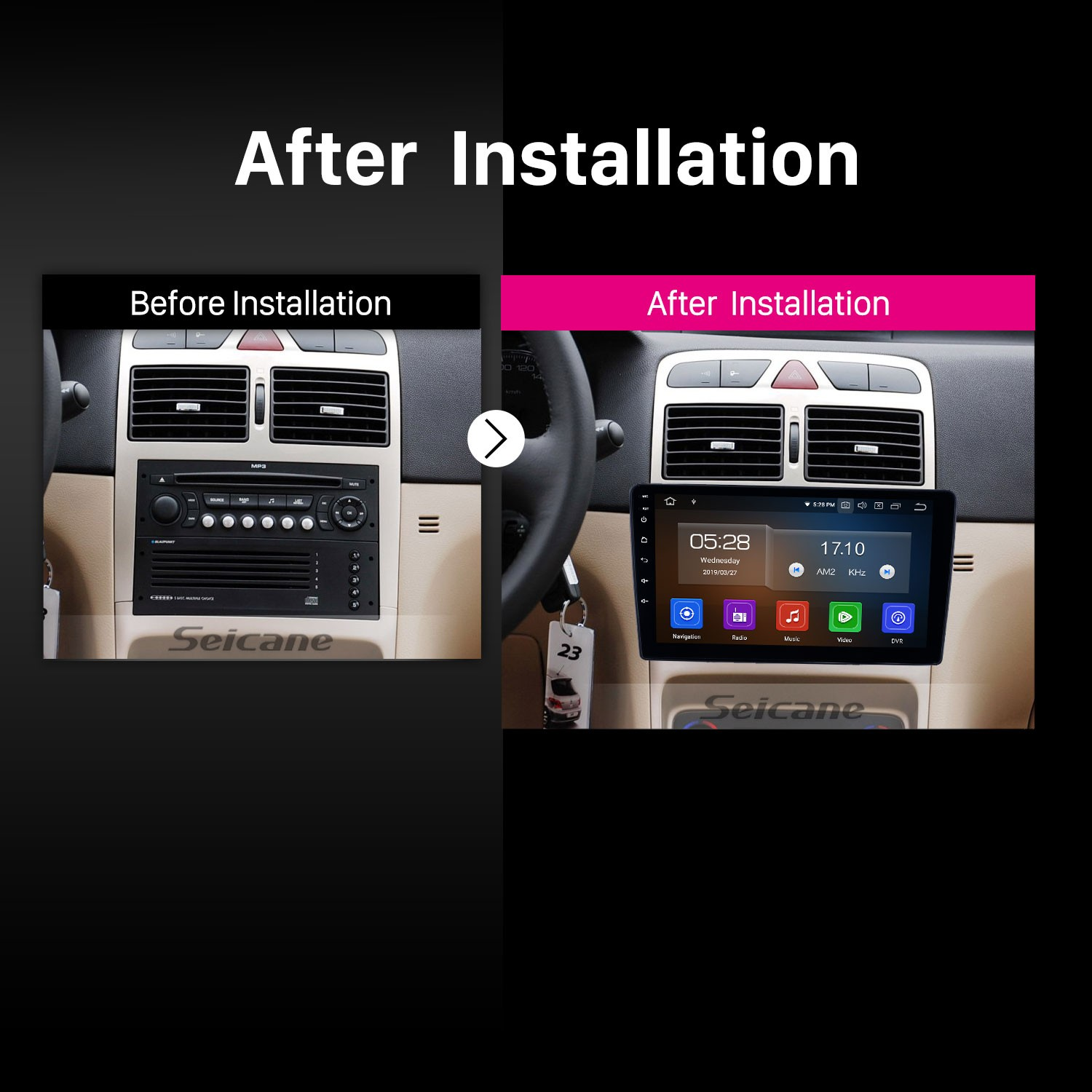 2001-2008 Peugeot 307 Android 9 0 9 inch GPS Navigation Radio