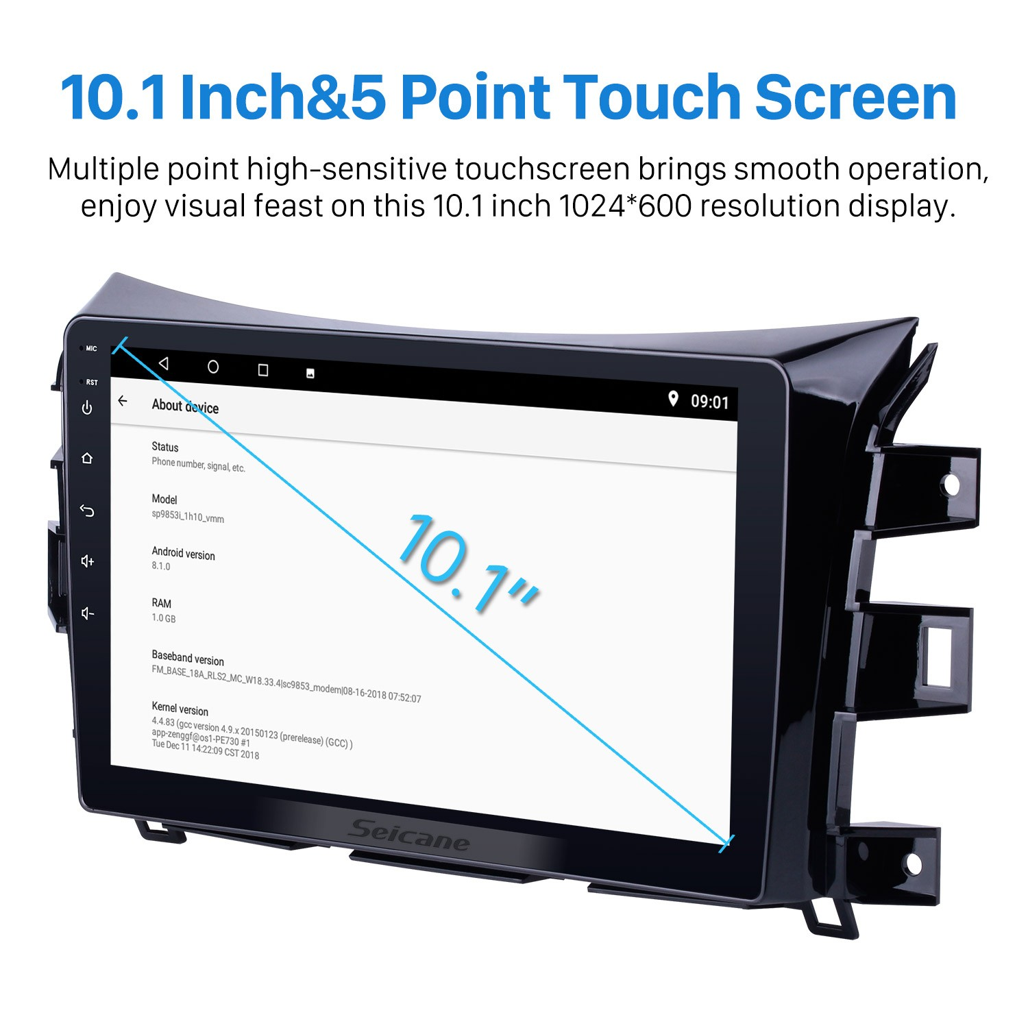 10 1 Inch 1024*600 Android 8 1 2011-2016 Nissan NAVARA Frontier