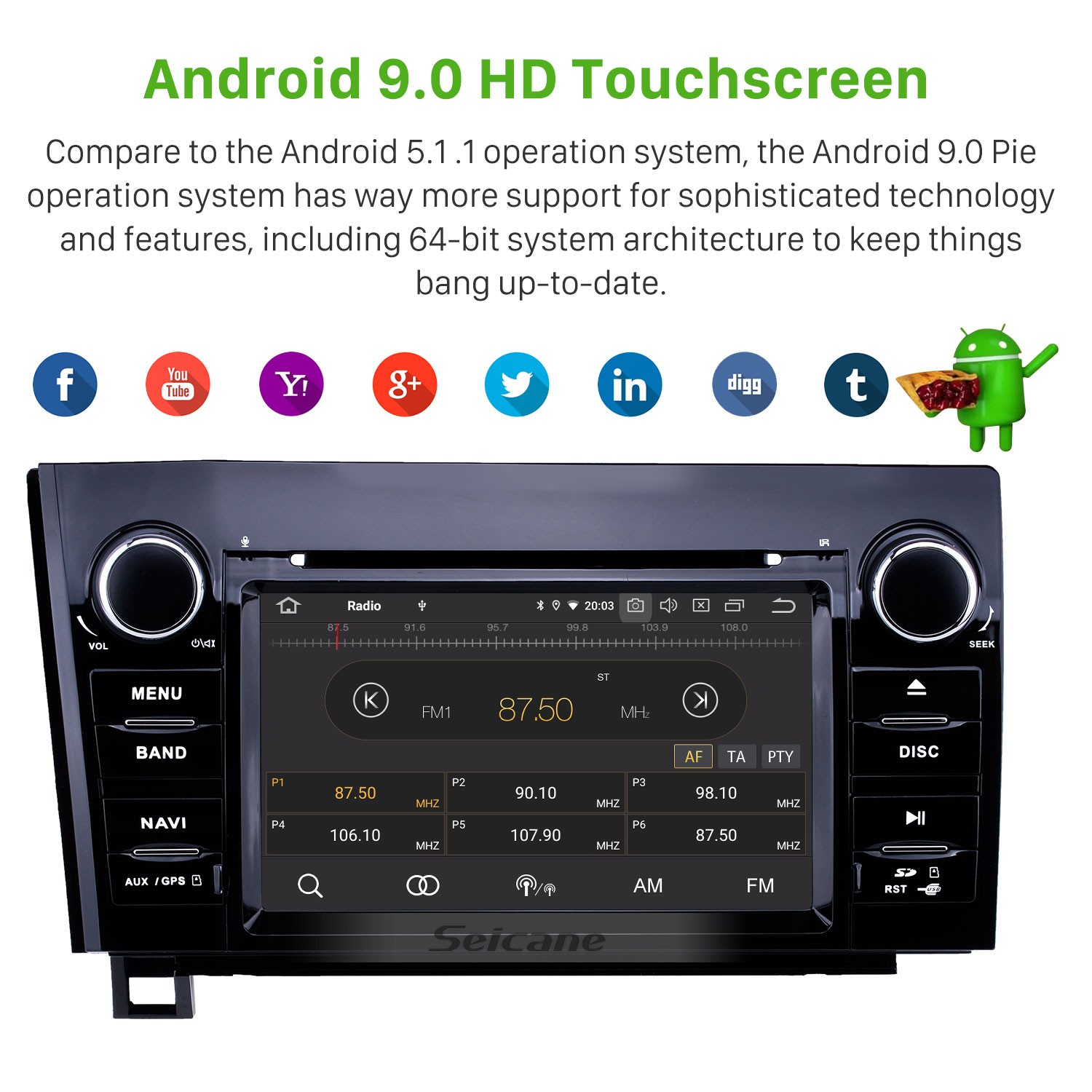 7 inch android 9 0 hd touchscreen gps navigation radio for 2008-2015 tundra  navigation system