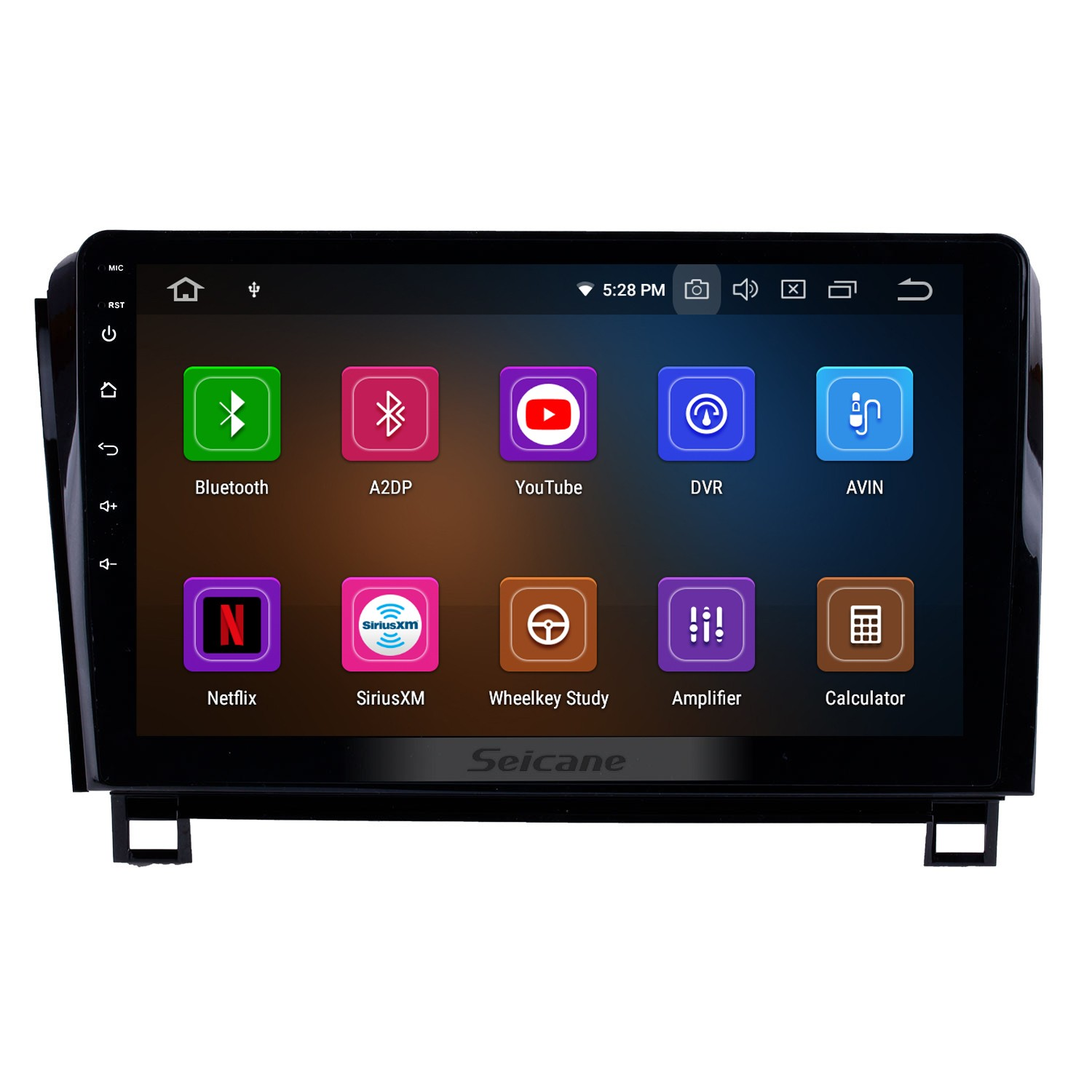 10 1 inch android 9 0 2006-2014 toyota sequoia gps navigation radio ips  full screen with music