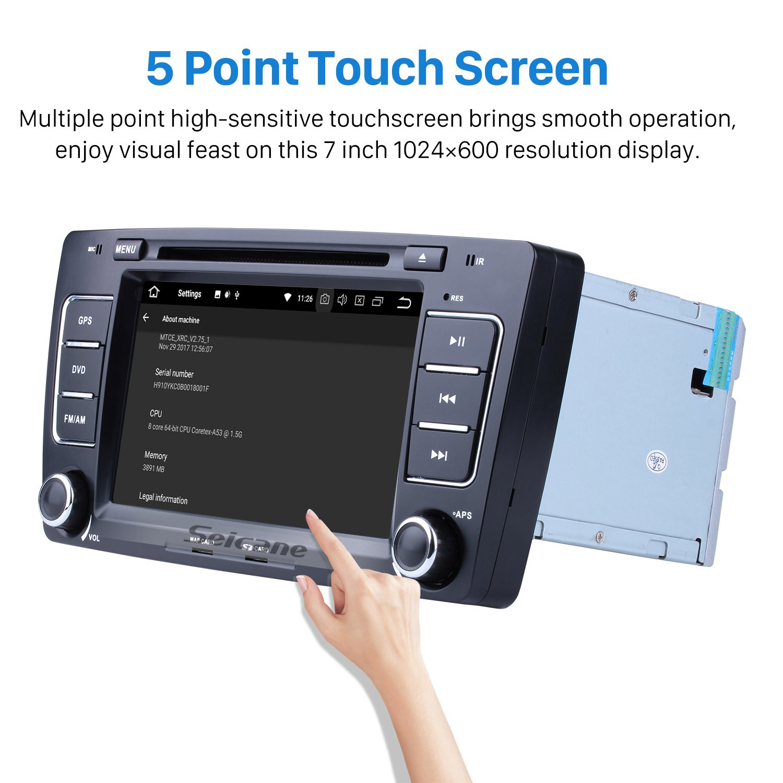 HD 1024*600 Android 9 0 2009-2013 Skoda Octavia Radio Upgrade with