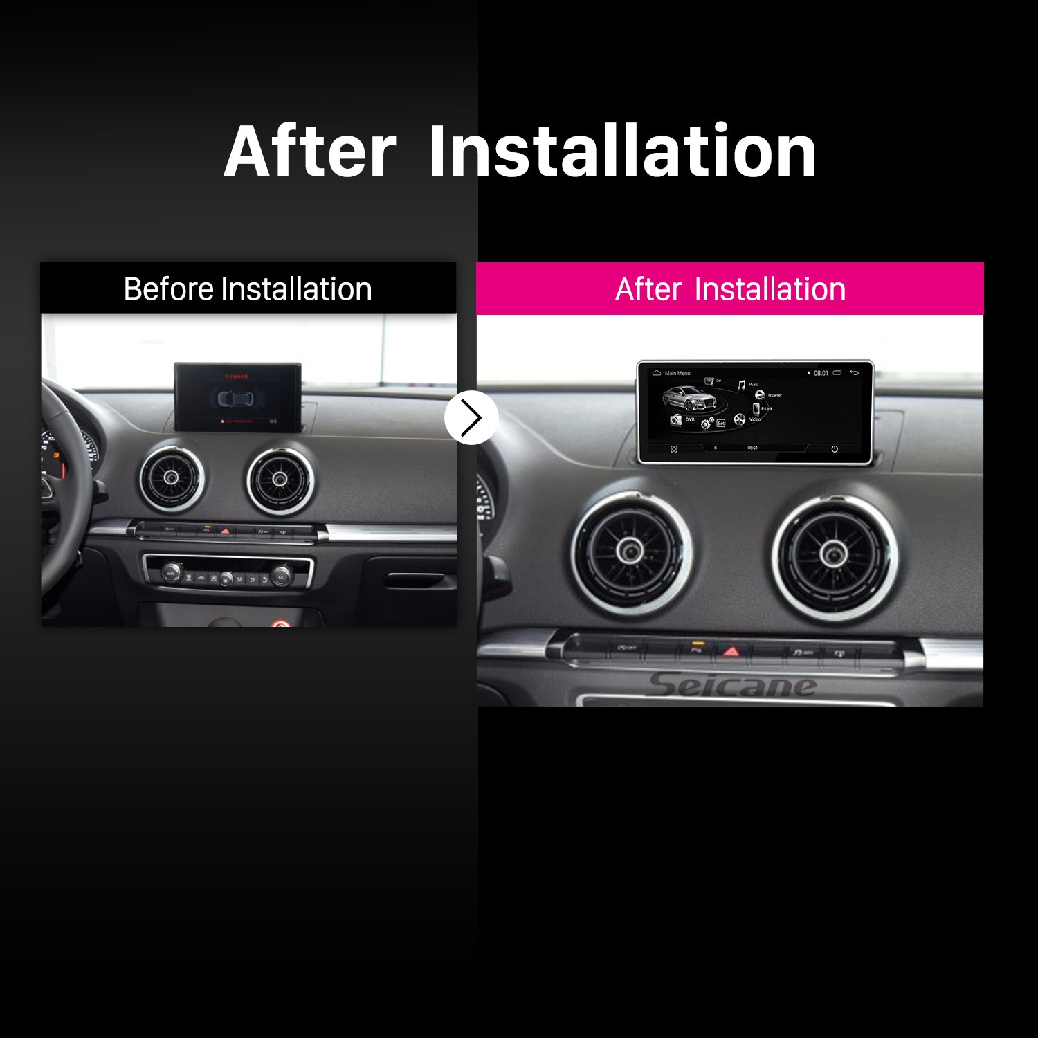10 25 inch Android 7 1 Radio for 2016 AUDI A3 1280*480 HD