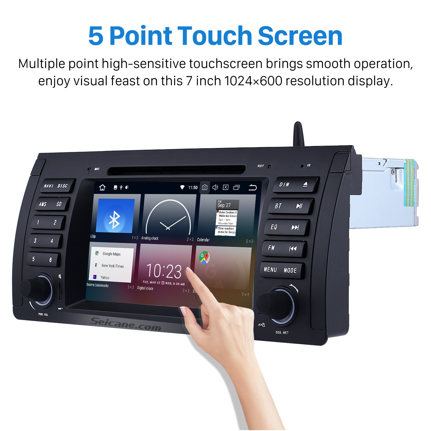 Android 9 0 Car Dvd Player For Bmw 5 Series E39 With Gps Radio Tv