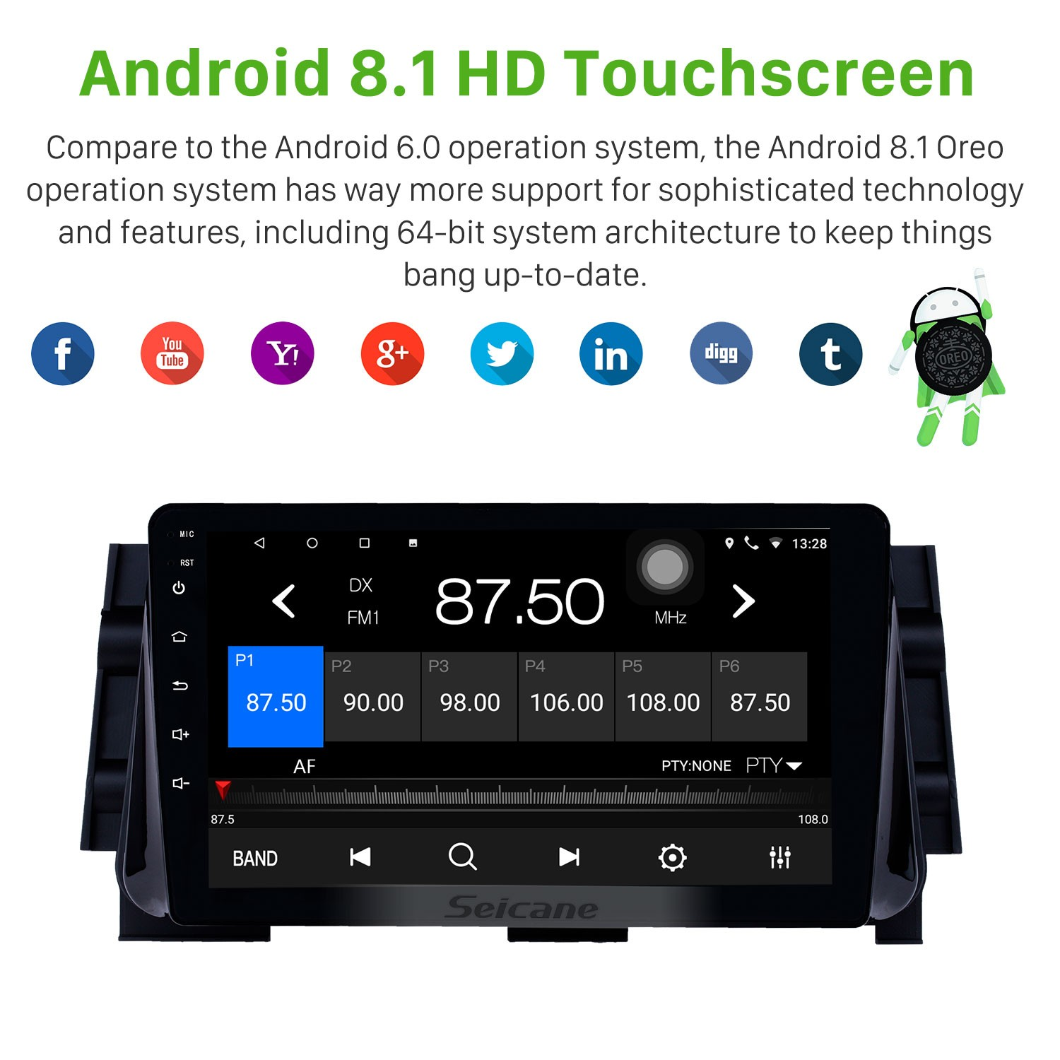 Android 8 1 9 inch HD Touchscreen GPS Navigation Radio for 2017